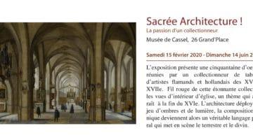 annonce de l'exposition sacrée architecture au musée de Cassel