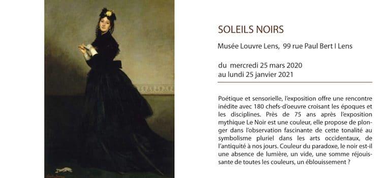 affiche de l'exposition Soleils Noirs au musée Louvre-Lens