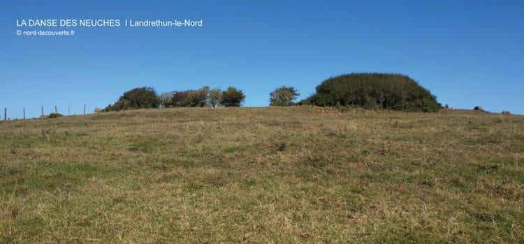 vue des rochers appelés la danse des Neuches de Landrethun-le-Nord