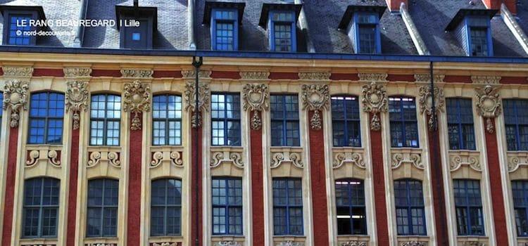 décoration des mascarons et chérubins de la façade du rang Beauregarg à Lille