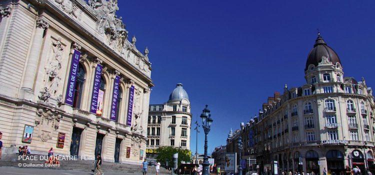 vue de l'opéra sur la place du Théâtre de Lille