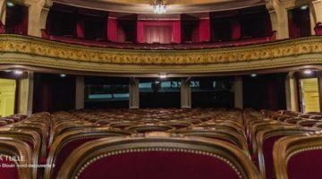 vue de la scène à l'italienne de l'opéra de Lille