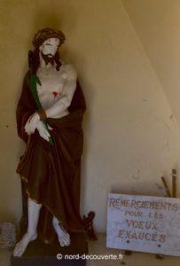 vue de la statue du Bon Dieu de Giblot d'Hasnon