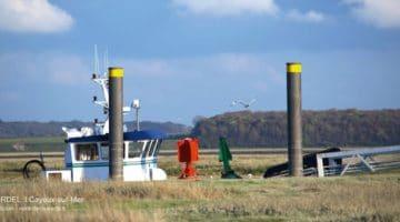 bateau de pêche à quai au port de la pointe du Hourdel