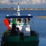 un bateau de pêche de la flotte de la pointe du Hourdel en baie de Somme