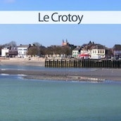 mini vignette de la ville du Crotoy en baie de Somme