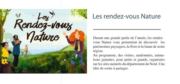 affiche qui annonce les Rendez-vous Nature 2020