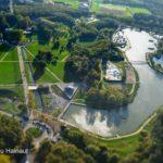 vue aérienne du parc de Loisirs de la Porte du Hainaut