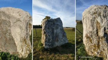 vues des différentes faces du grès Montfort ou gros caillou de Vendegies-sur-Ecaillon