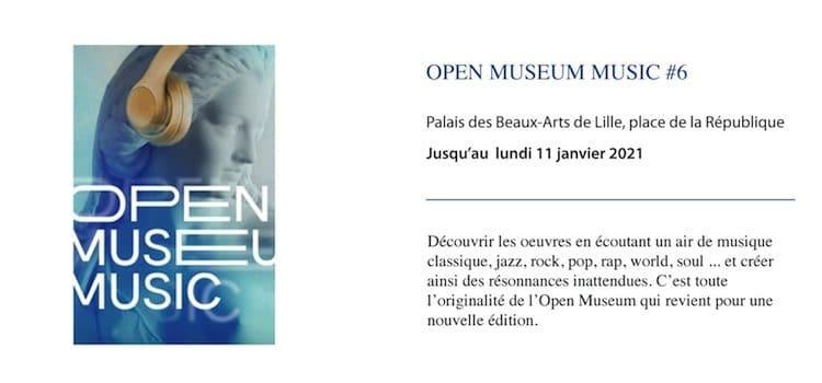 affiche de la 6e édition de l'Open Museum organisé par le musée des beaux-Arts de Lille