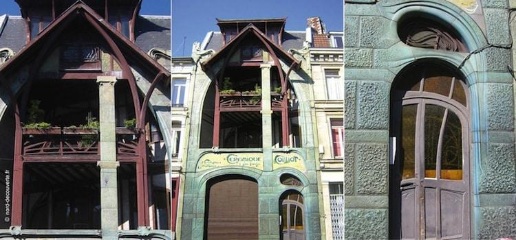 vue et détail de la façade de la Coilliot à Lille