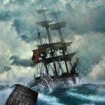 tableau d'un trois-mâts dans la tempête