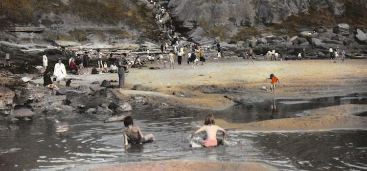 carte postale de la crique de la crevasse à Equihen-Plage