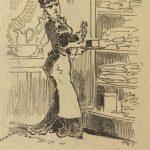 image satirique d'une servante tenant un maroilles