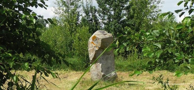 vue dans une clairière de la pierre du diable d'Oisy-le-Verger