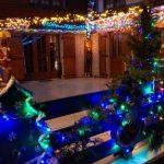 maison illuminée pendant les fêtes marais de Fretin