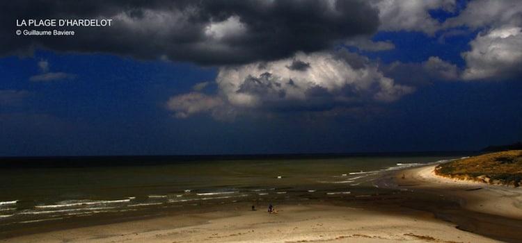 vue de la plage d'Hardelot