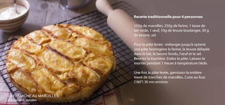 recette de flamiche au Maroilles
