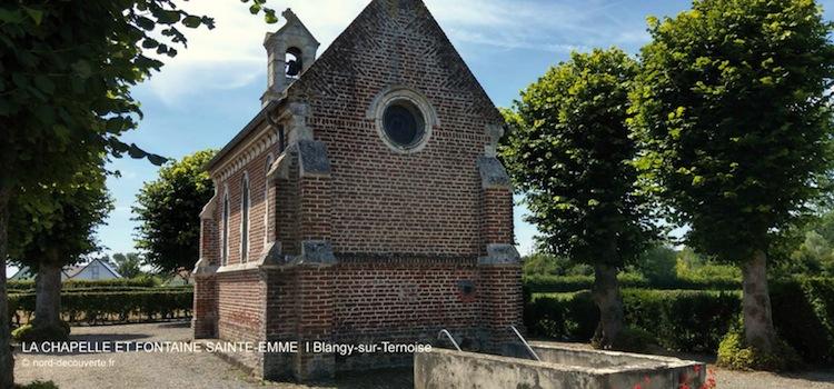 chevet de la chapelle et fontaine miraculeuse sainte-Emme à blangy-sur-Ternoise