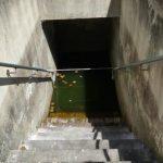 escalier et fontaine miraculeuse Sainte-Emme