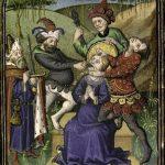 enluminuer représentant le martyr de Sainte Apolline