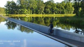 vue d'un cycliste sur la piste de Bokrijk
