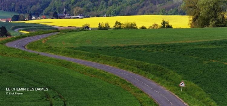vue de la D89 lbaptisée le Chemin des Dames