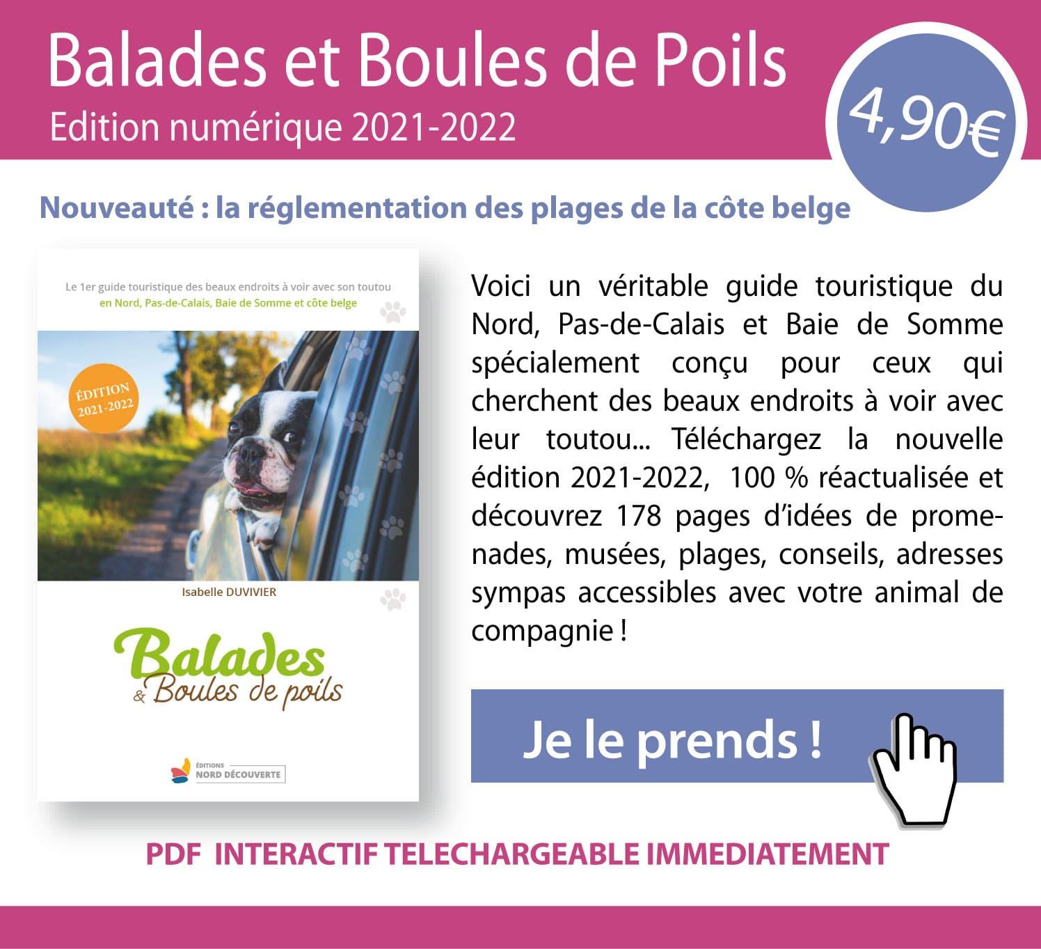 encart du guide Balades et Boules de Poils édition numérique 2021