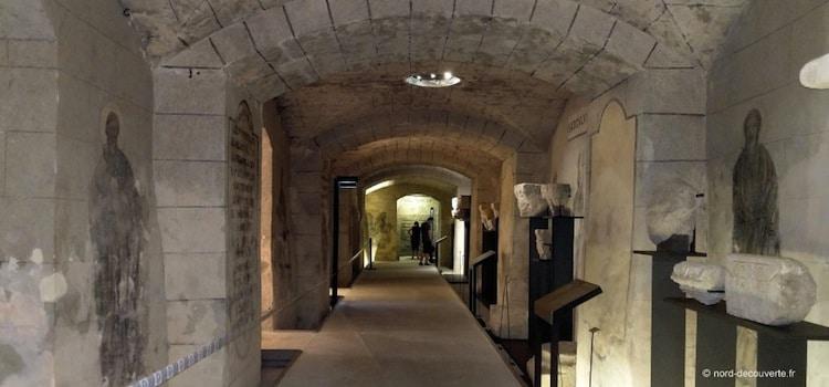entrée de la crypte-musée de Boulogne sur Mer