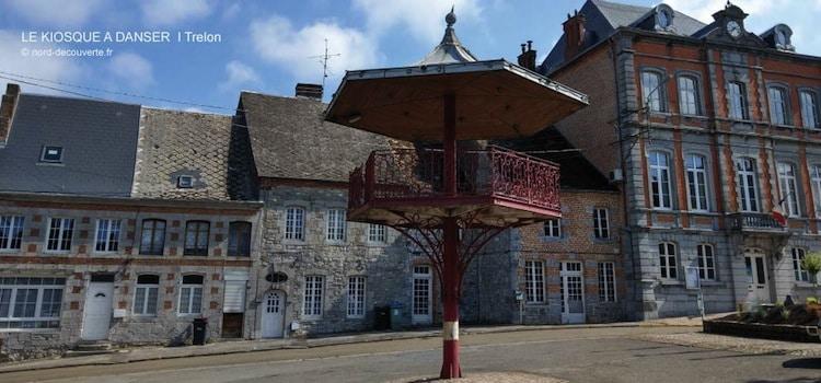 vue un des kiosques à danser de l'Avesnois à Trélon