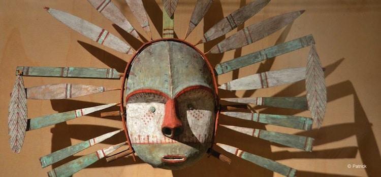 un masque de la collection du musée de Boulogne-sur-Mer