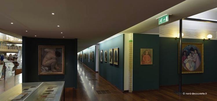 vue de la salle d'exposition du musée de Roubaix